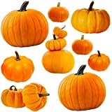 #10: Jumbo Pumpkin Cutouts for Classroom Decoration Fall Celebrations Halloween Party Supply 6 Designs 9 Pcs