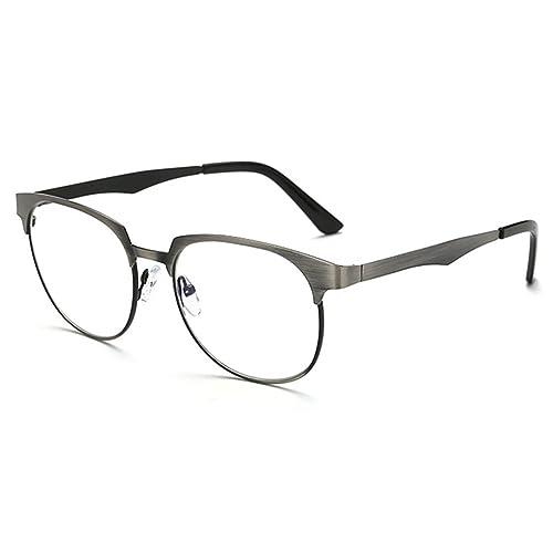 Hombres Mujeres anteojos de luz azul - Anteojos de marco de metal Anteojos de anteojos claros con es...