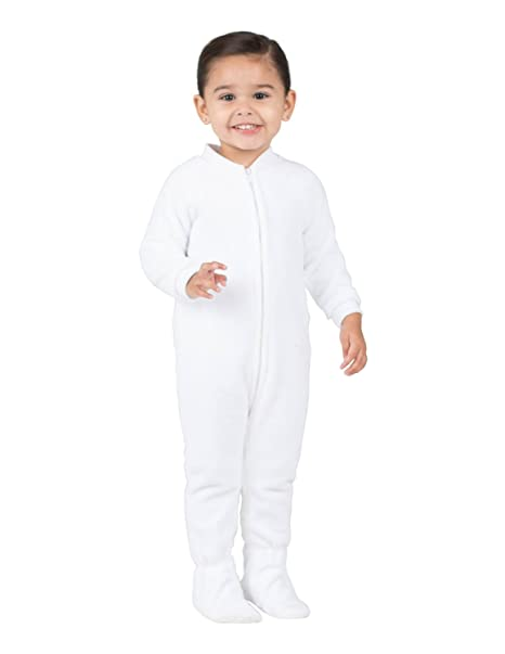 ec69b639dc Amazon.com  Footed Pajamas - Arctic White Infant Fleece Onesie ...