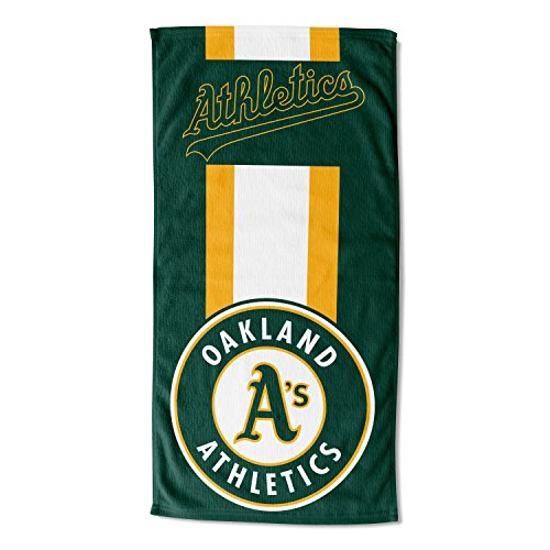 Officially Licensed MLB Oakland Athletics Zone Read Beach Towel, 30
