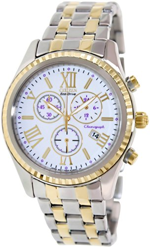Citizen Women's FB1364-53A Eco-Drive Silver/Gold/White Stainless Steel Watch