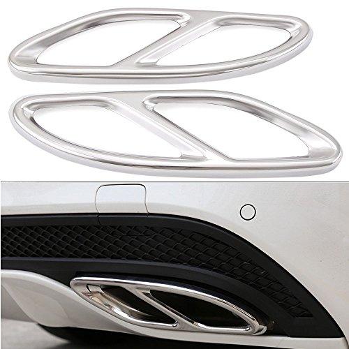 Duoles Pipe Throat Exhaust Outputs Tail Cover Trim for Mercedes Benz C-Class W205 Coupe,GLC, B W246,E W213 Coupe A-Class GLE GLS CLA (Best Exhaust For Mercedes)
