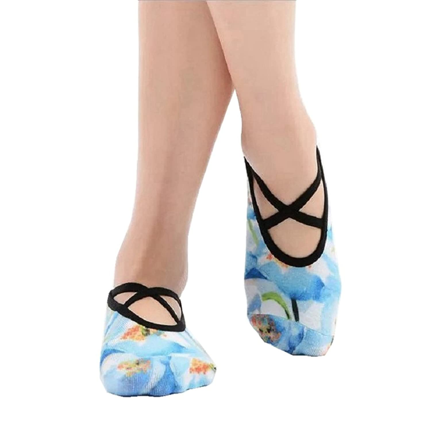 Amazon.com: PinkBTFY Women Cotton Yoga Socks 3D Printed Ankle Socks Non-Slip Grip Dance Flower Pilates Sox Blue: Clothing