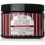 Shea Terra Organics Rose Geranium Moroccan Mud-Poo | All Natural Hair Repair Treatment Mineral Mud - 12 oz
