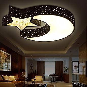 Cttsb Kinderzimmer Deckenleuchte LED jungen Zimmer Sterne Mond Licht ...
