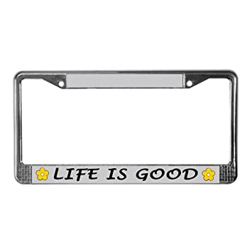 Amazoncom Car Plate Frame Life Is Good With Daisy Design Life Is
