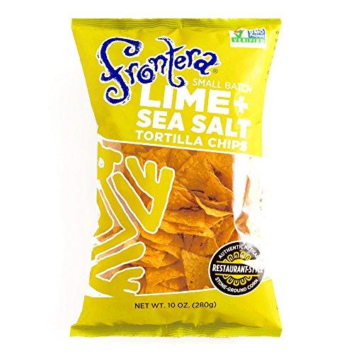 Frontera Lime Sea Salt Tortilla Chips 10 oz each (3 Items Per Order) - Frontera Tortilla Chips