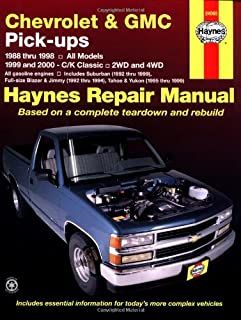 haynes repair manual for chevy pick up number 24065 automotive rh amazon com 1987 GMC Sierra Grande 2500 1987 GMC Sierra Grande 2500