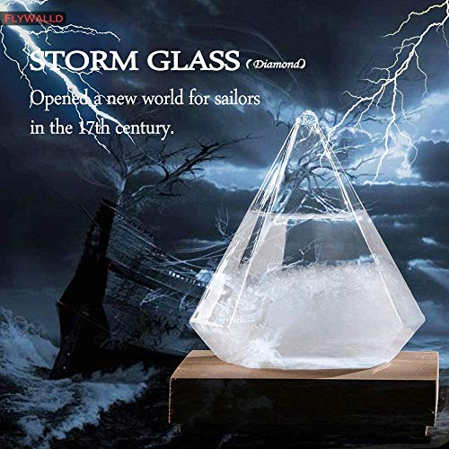 2020 Weather Predictor, Triangle Cube Storm Glass Weather Stations, Weather Forecaster Glass, Desktop Weather Predictor, Bird Shape Crystal Decor Weather Glass for Office Desktop Home Decorative