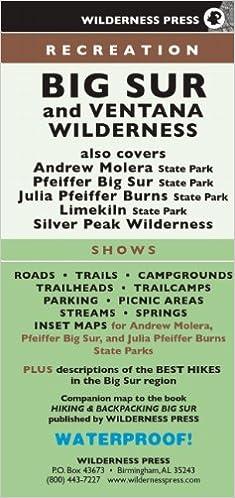 MAP Big Sur Recreation: Wilderness Press: 9780899977690 ...