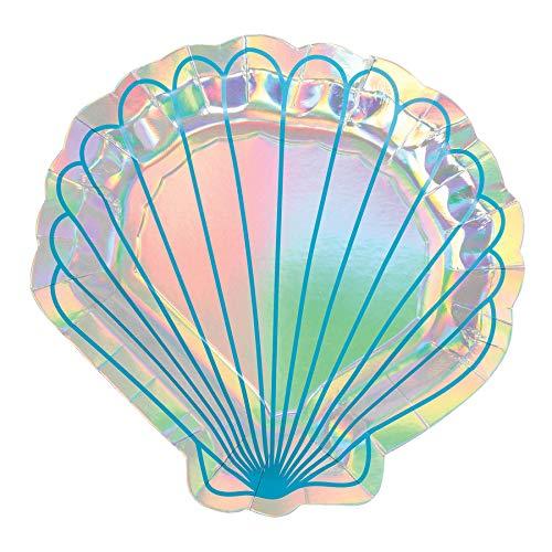 Amscan Mermaid Wishes Dessert Plates (8 ct)]()