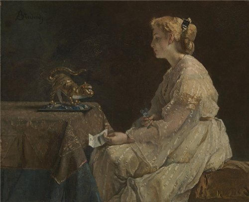 Oil Painting 'Alfred Stevens - The Present,about 1866-71', 30 x 37 inch / 76 x 94 cm , on High Definition HD canvas prints is for Gifts And Garage, Home - Sunglasses Johnson Don