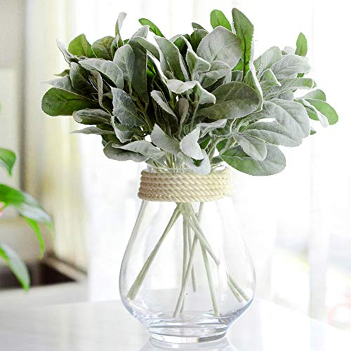 lightclub 1Pc Artificial Leaf Plant Photography Prop Wedding Party Home Desk Foliage Decor Home, Wedding, Party Green