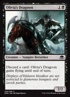 Magic: the Gathering Olivia39;s Dragoon (100/205) - Eldritch Moon - Foil