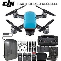 DJI Spark Portable Mini Drone Quadcopter Fly More Combo Hardshell Backpack Ultimate Bundle (Sky Blue)