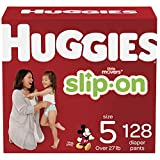 Huggies Little Movers Slip-On Diaper Pants, Size 5, 128 Ct (Packaging May Vary)