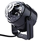 LightMe LED RGB Crystal Magic Ball Effect Lights Party Stage Lighting with Remote Controller For KTV Xmas Party Wedding Show Club Pub Disco DJ(Black-1