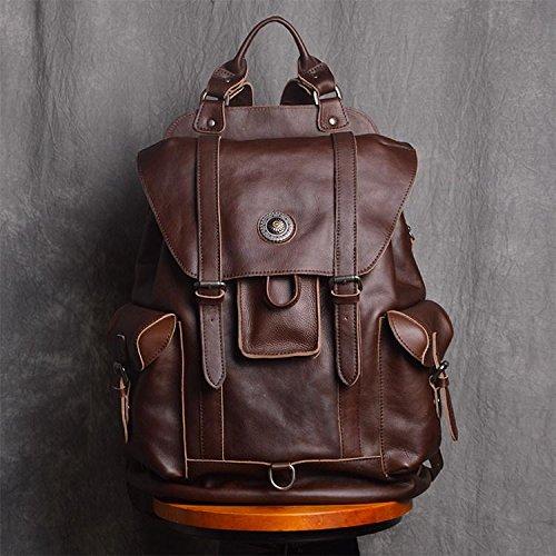 Handmade Full Grain Leather Gym Backpack Unisex Travel Backpack 15'' Laptop Backpack by Jellybean Gorilla