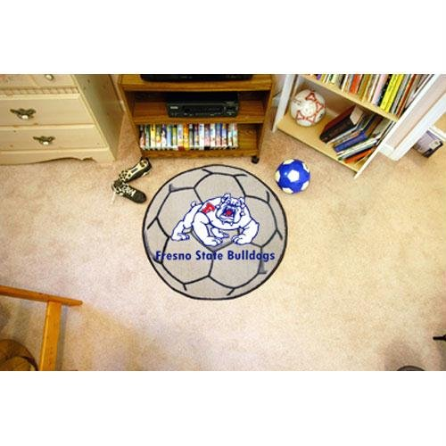Fresno State Baseball Rug - Fanmats Fresno State Bulldogs Soccer Ball-Shaped Mats