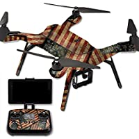 MightySkins Protective Vinyl Skin Decal for 3DR Solo Drone Quadcopter wrap cover sticker skins Vintage American