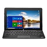 Bit W1004PB CORE+ Windows 10 detachable PC, Cherry Trail CPU, 4GB RAM 32GB storage, HD touchscreen, 10.1', Black