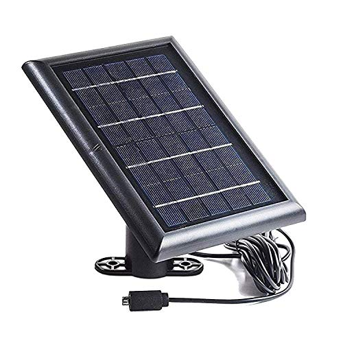 Solar Panel for Ring Stick Up Cam and Reolink Argus 2, Power Your Ring Outdoor Camera and Reolink Argus 2 continuously with Our New Solar Charging Device - by Wasserstein