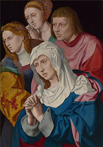 Oil Painting 'Bartholomeus Bruyn The Elder - The Virgin, Saints, A Holy Woman,probably 1530-40' 20 x 28 inch / 51 x 72 cm , on High Definition HD canvas prints, - A Coupon Of Romance Touch