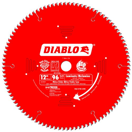 Diameter Blade - Freud D1296L Diablo Melamine, Laminate Flooring, and Wood Saw Blade 12-Inch Diameter 96t TCG 1-Inch Arbor