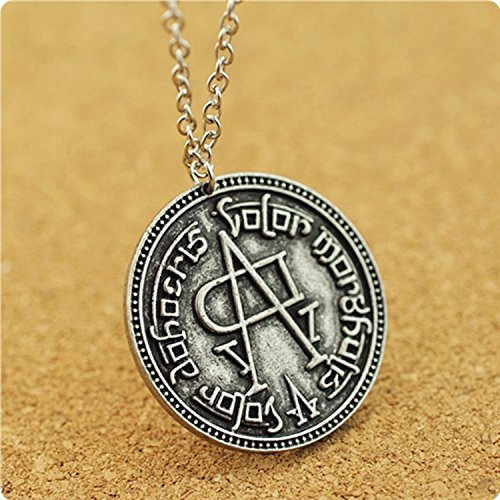 [Game Of Thrones Inspired Song of Ice and Fire Necklace Coin Pendant] (Pop Art Inspired Costumes)