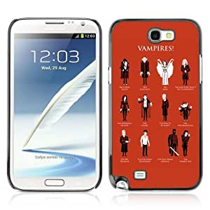 Designer Depo Hard Protection Case for Samsung Galaxy Note 2 N7100 / Cool Vampire Types by icecream design