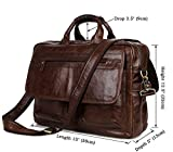 YAAGLE Mens Genuine Real Buffalo Leather Briefcase Business File Organizer Portable Cross-body Shoulder Bag Top-handle Handbag Backpack