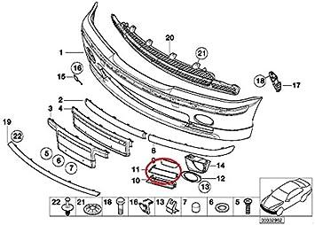 For BMW E53 Front Passenger Right Fog Light Trim Bumper Cover Primered Genuine