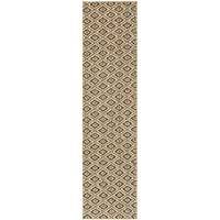Safavieh Palm Beach Collection PAB411B Natural and Black Jute Runner (2 x 8)