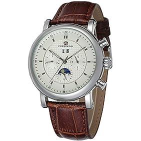 Forsining Men's Automatic Movement Tourbillion Calendar Wrist Watch FSG553M3S1