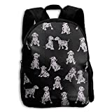 ERTOUGN22 Love Dalmatians Dogs School Backpacks Boys Girls Bookbag Kids Student Backpack