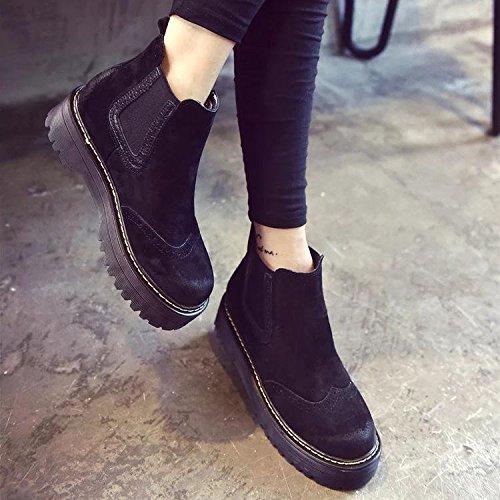 NSXZ Femme 's tissu de gommage cru cru cru augHommes tation des chaussures de bottes élastiquesB0751F6PZ1Parent 562438