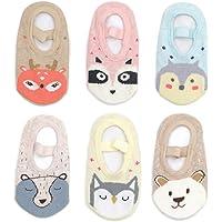 Yenzat Baby Girls Ankle Socks Non-Skid Anti-Slip Toddler Mary Jane Socks Grip 12-36 Month 6 Pairs