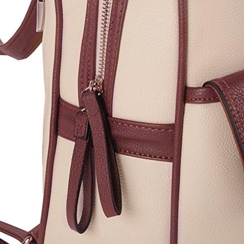 Bag Travel Bag Blue 344 white Leather Ladies Backpack Women Vintage Creamy Tinksky School Shoulder Bag gIxwW1