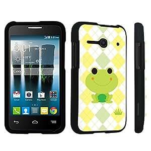 DuroCase ? Alcatel OneTouch Evolve 2 4037T Hard Case Black - (Cute Frog)