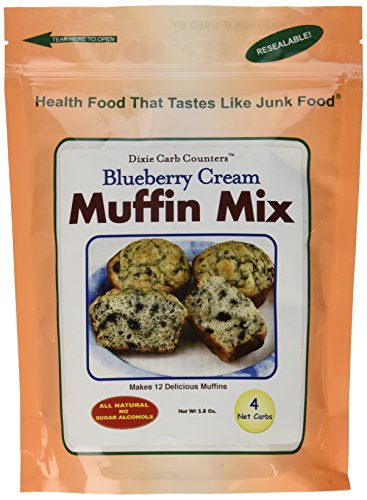 Dixie Carb Counters Blueberry Cream Muffin (Dixie Low Carb)