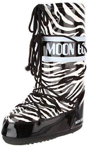 Tecnica Women's MB Savana Snow Boot,Black/White,44 EU/10-11.5 M US