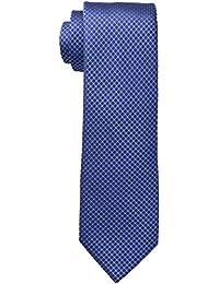 Calvin Klein Corbata micro color acero sólido