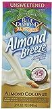 Blue Diamond Almond Breeze Almond Coconut Blend Milk, Unsweetened Original, 32 Ounce (Pack of 6)