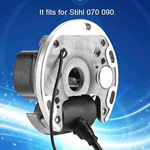 Garosa Ignition Coil Replacement Metal Black Spark Coil Module for Stihl 070 090 Chainsaw 1106 400 0705 1106 404 3210 Stator