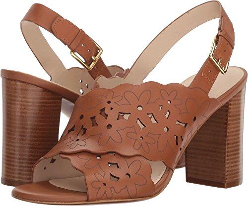 Cole Haan Kvinders Indra Høj Blomstret Sandal Ii Britiske Tan Læder WKVWO