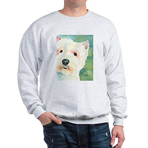 (CafePress Westie Sweatshirt Classic Crew Neck Sweatshirt Ash Grey)