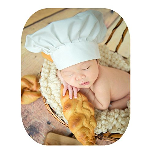Fashion Newborn Boy Girl Baby Photography Props Outfits Photo Shoot Chef Styling Hat
