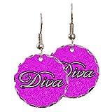 Earring Circle Charm Pink Diva Princess