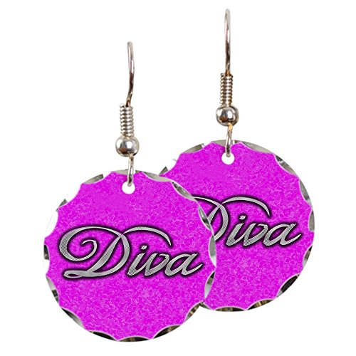 Earring Circle Charm Pink Diva Princess by Royal Lion