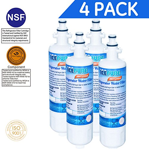 IcePure RFC1200A/RWF1200A Water Filter Replacement Cartri...